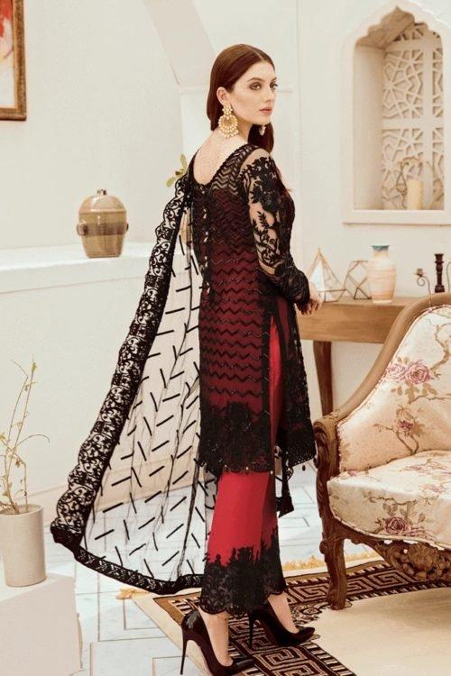 Riona Festive Party Dress by Afrozeh - Original Riona Festive Party Dress by Afrozeh 05 Black Ruby Party Wear Salwar Kameez and Salwar Suits in India