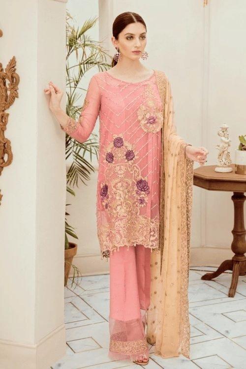Riona Festive Party Dress by Afrozeh - Original Riona Festive Party Dress by Afrozeh 09 Regal Rose Party Wear Salwar Kameez and Salwar Suits in India