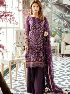Voyage de L'amoure Pakistani Salwar Suit | Afrozeh | 04- Porcelain Magnolia Voyage de L'amoure by Afrozeh - Original pakistani suits in mumbai