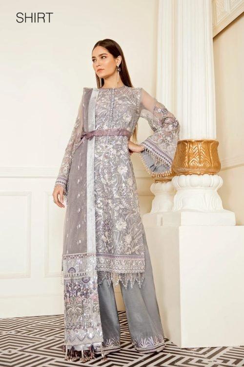Baroque Chantelle Chiffon - Original Baroque Chantelle Chiffon Design 07- Pearl River Salwar Suits Pakistani Suits for Winter