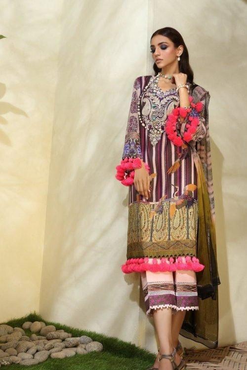 *Hot on Sale* Sana Safinaz | Winter Muzlin | 2019 | 1B HOT Ready to Ship - Original Pakistani Suits