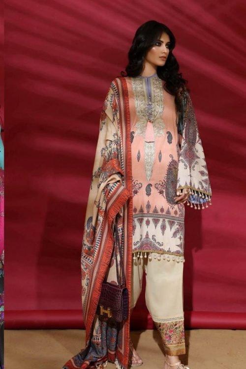Sana Safinaz | Winter Muzlin | 2019 | 2A Sana Safinaz Winter Muzlin 2019 - Original Salwar Suits Pakistani Suits for Winter