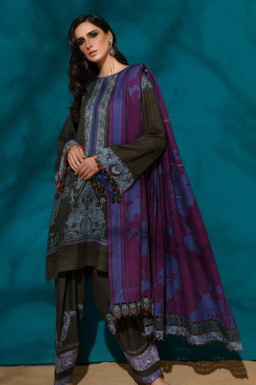 Sana Safinaz | Winter Muzlin | 2019 | 5A Sana Safinaz Winter Muzlin 2019 - Original Salwar Suits Pakistani Suits for Winter