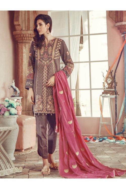 Winter Salwar Kameez | Rajbari | Linen Vol1 '19 | 1B Linen by Rajbari - Original pakistani suits in delhi