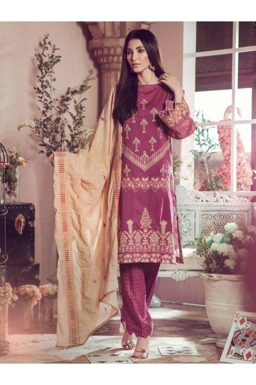 Winter Salwar Kameez | Rajbari | Linen Vol1 '19 | 2B Linen by Rajbari - Original pakistani suits in delhi