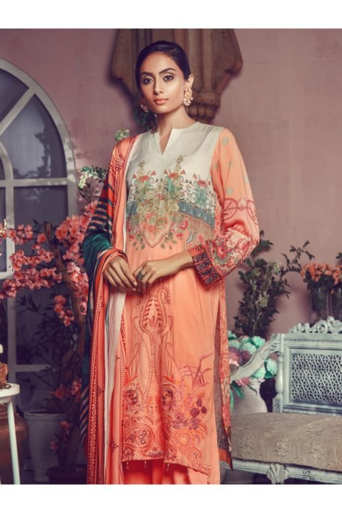 Winter Salwar Kameez | Rajbari | Linen Vol1 '19 | 5B Linen by Rajbari - Original pakistani suits in delhi