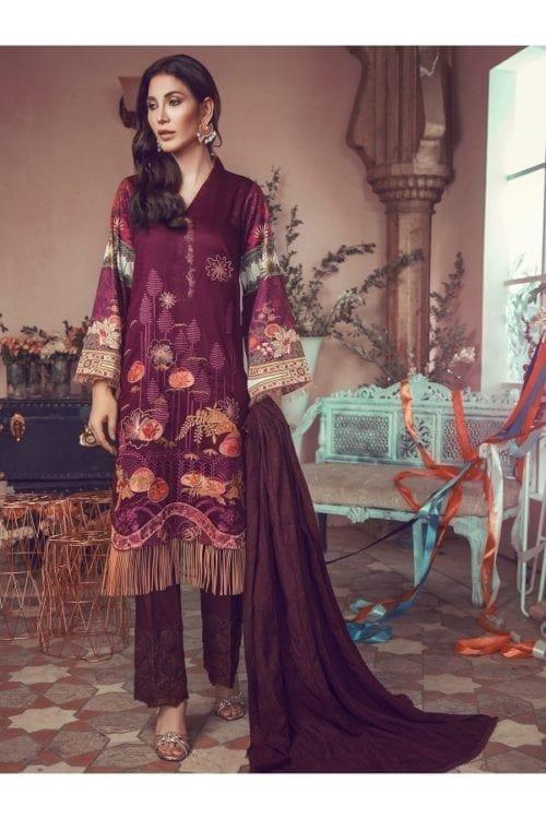 Winter Salwar Kameez | Rajbari | Linen Vol1 '19 | 8B Linen by Rajbari - Original pakistani suits in delhi