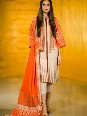 Alkaram Winter Collection 2019 - Original 3 Piece Printed Cotton Satin Suit with Fancy Dupatta |  Alkaram | FW-31.1-19-Green pakistani suits in delhi