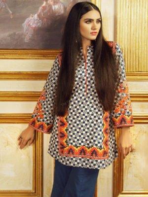 *Hot on Sale* 2 Piece Printed Plain Viscose Suit with Plain Viscose Dupatta | Alkaram | FW-42-19-Yellow HOT Festive