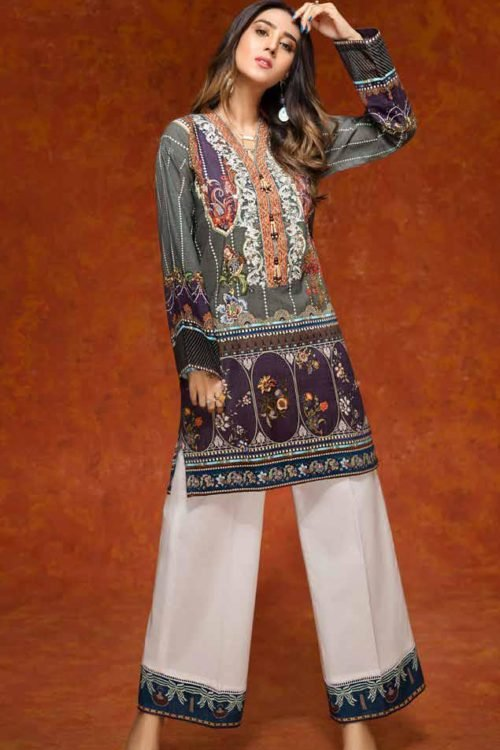 Gulistan by Gul Ahmed - Original Gulistan Pakistani Kurta  |  GulAhmed |  SK70 pakistani suits in delhi