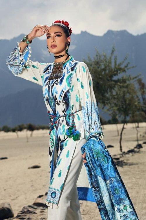 Gul Ahmed Craft Winter Collection - Original Gul Ahmed Craft Winter Collection Design K79 BASHO Ready to Ship - Original Pakistani Suits