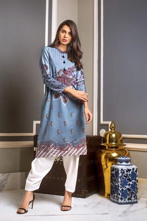 Luxury Shaleen Digital Satin Collection by Gul Ahmed DCSS09 -1 PC SHIRT Luxury Shaleen Gul Ahmed - Original Gul Ahmed