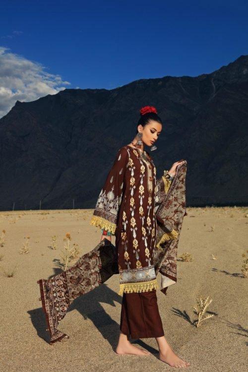 Gul Ahmed Craft Winter Collection - Original Gul Ahmed Craft Winter Collection Design K72 GOJAL Ready to Ship - Original Pakistani Suits