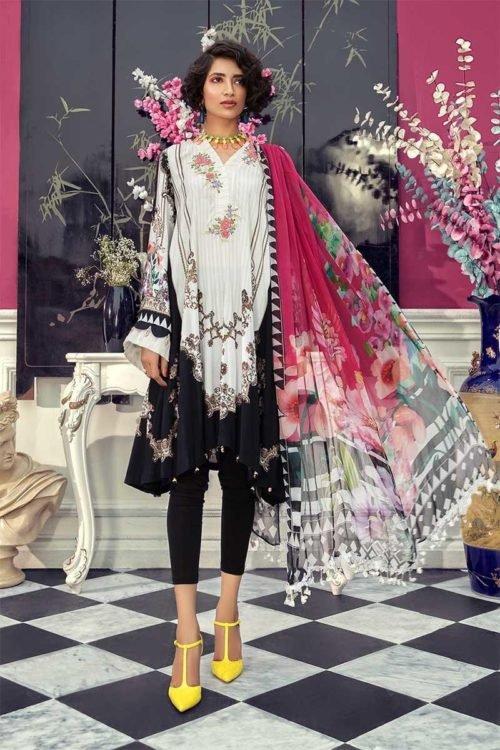 MARIAB Mprints Fall Winter 2019 - Original MARIAB Mprints Fall Winter 2019 MPT-706-A Ready to Ship - Original Pakistani Suits