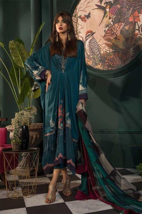 MARIAB Mprints Fall Winter 2019 - Original MARIAB Mprints Fall Winter 2019 MPT-710-A Ready to Ship - Original Pakistani Suits