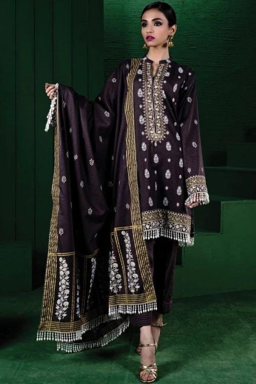 Orient Winter Collection - Original Orient Winter Collection OTL-19-179/B Salwar Suits Pakistani Suits for Winter