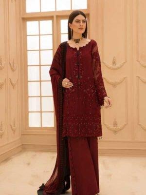 Sana Safinaz Winter Shawl 2019 - Original Sana Safinaz Winter Shawl 2019 Design 8B [tag]