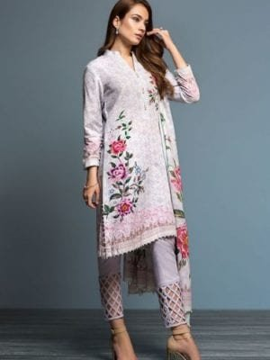 *Hot on Sale* Nishat Linen Design No – 41901084-Linen – Beige Printed 3PC On Sale