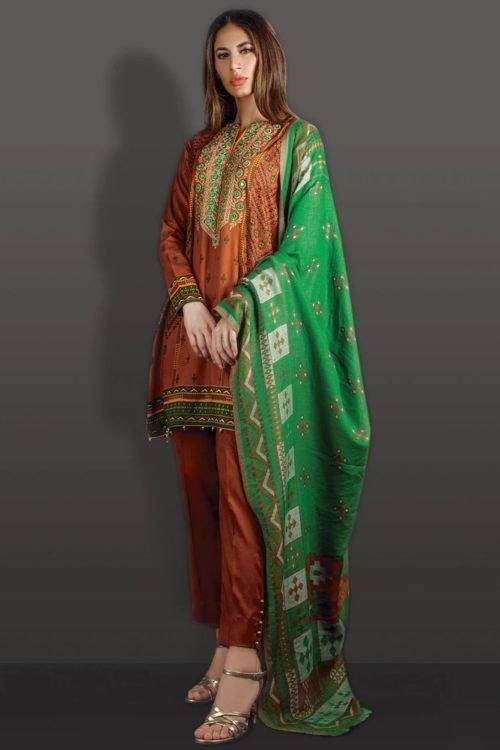 Orient Winter Collection Vol 2 - Original Orient Winter Collection Vol 2 OTL-19-247/B Salwar Suits Pakistani Suits for Winter
