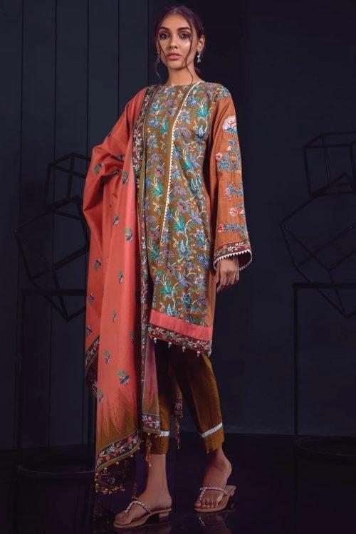 Orient Winter Collection Vol 2 - Original Orient Winter Collection Vol 2 OTL-19-172/A Salwar Suits Pakistani Suits for Winter