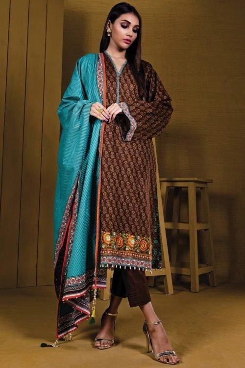 Orient Winter Collection Vol 2 - Original Orient Winter Collection Vol 2 OTL-19-191/A Salwar Suits Pakistani Suits for Winter
