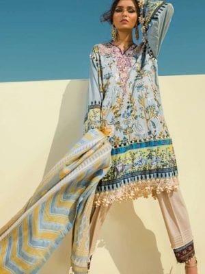 Sana Safinaz Winter Shawl 2019 - Original Sana Safinaz Winter Shawl 2019 Design 8A [tag]