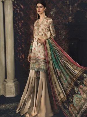 MARIA B MARIA.B. Silk 2019 Unstitched Silk MSK-403-Purple Ready to Ship - Original Pakistani Suits