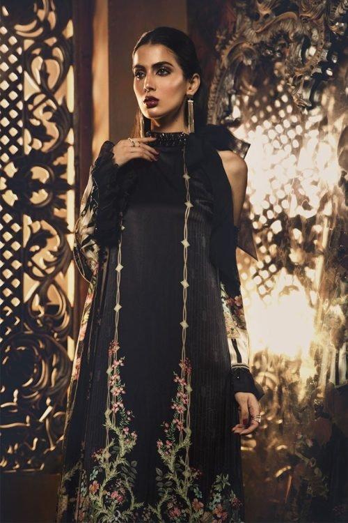 MARIA.B. Silk 2019 Unstitched Silk MSK-404-Black – RELISTED / RESTOCKED Best Sellers Restocked best salwar suits online