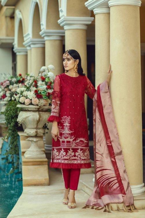 Azure Luxe Festive Edition Vol 3 - Original Azure Luxe Festive Edition – Blooming Fire L-03 Ready to Ship - Original Pakistani Suits