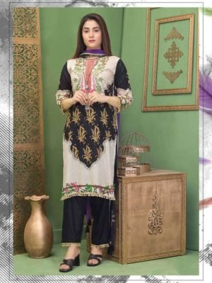 Rang Rez Designer Lawn Salwar Suit 2020 2B Rang Rez Designer Lawn Salwar Suit 2020 - Original Ready to Ship - Original Pakistani Suits