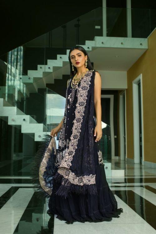 Mina Hasan Embroidered Chiffon 2020 – MHC-6 Best Sellers Restocked best salwar suits online