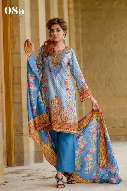 Zara Khan Lawn by Zohan Textiles 8A *Hot on Sale* Ready to Ship - Original Pakistani Suits