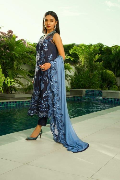 Mina Hasan Embroidered Chiffon 2020 – MHC-9 Best Sellers Restocked best salwar suits online