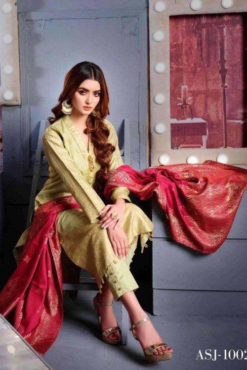 Amna Sohail Cotton Cambric – Design ASJ 1002 *Hot on Sale* Best Sellers