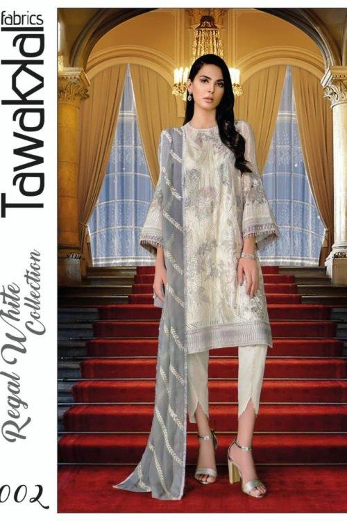 Tawakkal Regal White Collection – D-02 Best Sellers Restocked best salwar suits online