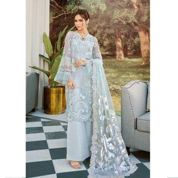 Rouche Luxe Chiffon – FROZEN FOREST – RESTOCKED Rouche Luxe Chiffon - Original Chiffon Kameez Suits