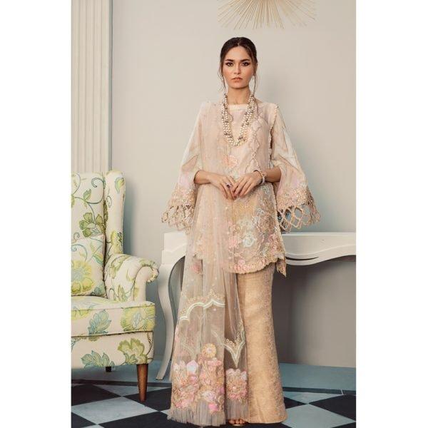 Rouche Luxe Chiffon – MARIGOLD BLOOM – RESTOCKED Rouche Luxe Chiffon - Original Chiffon Kameez Suits