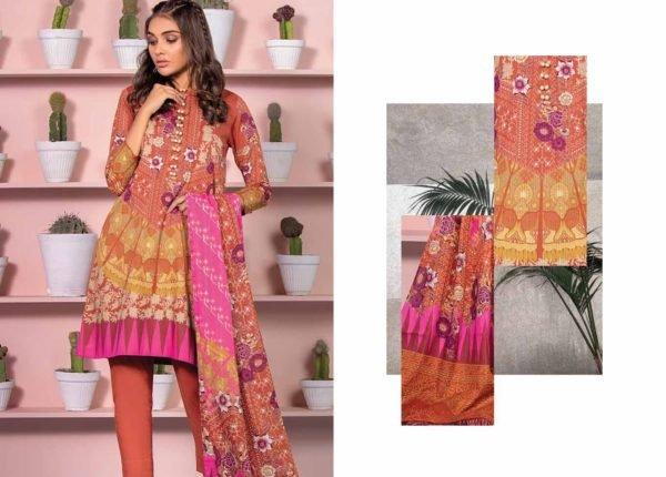 Alkaram Summer 2020 -SS-13-20-RUST| 3 PIECE *Best Sellers Restocked* Lawn Kameez Suits