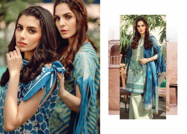 Alkaram Summer 2020 – SS-16-20-BLUE| 3 PIECE *Best Sellers Restocked* Lawn Dupatta Suits