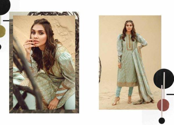 Alkaram Summer 2020 – SS-14.1-20-GREEN| 3 PIECE *Best Sellers Restocked* Lawn Dupatta Suits