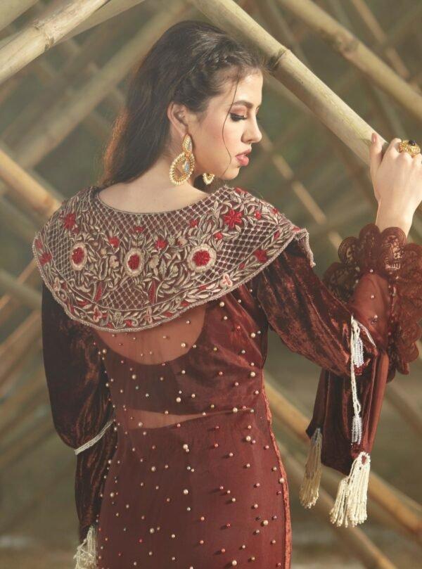 Zara Hayaat Winter Festive Velvet 2020 – CARAMEL 20 W10 RESTOCKED